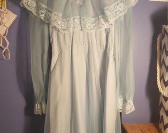 Powder Blue Vintage Nightgown