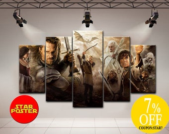 The Lord of the Rings canvas, LOTR canvas, LOTR print art, LOTR canvas art, The Lord of the Rings art, Aragorn canvas, Frodo canvas, LoTR