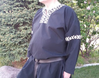 People will approach you just to look! Men's Large, Embroidered, Norman Style, SCA, T-tunic