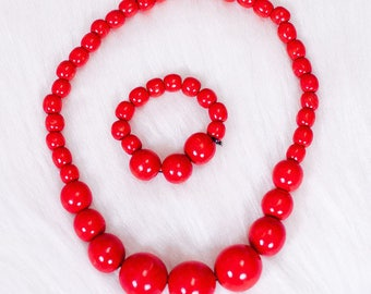 Wooden jewelry Wooden Necklace wooden ornaments handmade