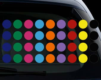 Polka Dots Peel and Stick Decoration Vinyl Decal Sticker