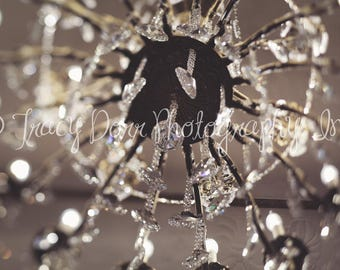 INSTANT DOWNLOAD - abstract chandelier photograph - high resolution - glamour wall print