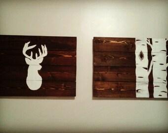 Deer Head and Aspens