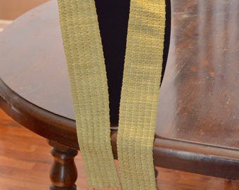 Handwoven rayon scarf - 60 in x 2.5 in