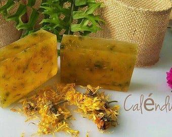 Marigold Bar Soap for Irritaded skin, Organic Calendula Soap, Artisanal Soap, Jabon Artesanal de Calendula