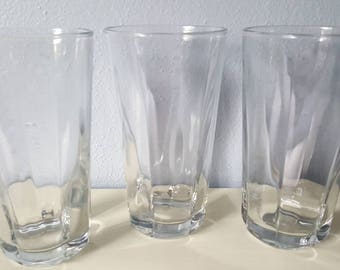 Vintage Anchor Hocking Clear Drinking Glasses