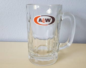Vintage A&W Root Beer Glass Mug
