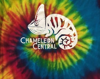 Chameleon Central USA Tie Dyed Veiled Logo T-shirt