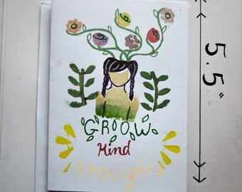 Grow Kind Thoughts Greeting Card