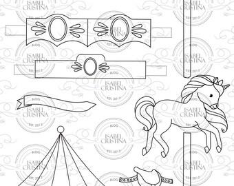 Unicorn Carousel - IsabelCristinaStamp