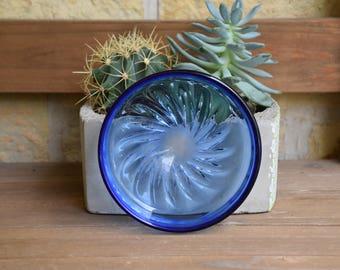 Orrefors Vintage Cobalt Blue Art Glass Bowl