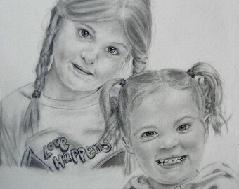 Custom Drawn Pencil Portraits 11x14