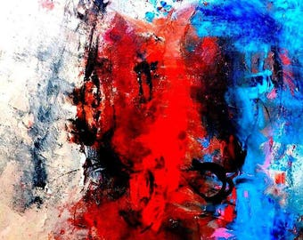 Mixed media abstract art