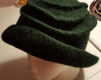 Green Felted Wool Hat