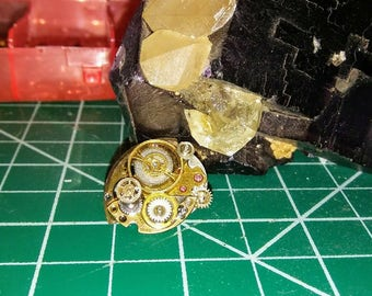 Handmade steampunk pin