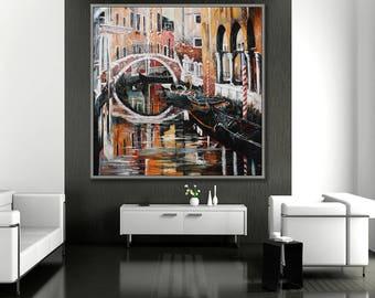 "Venice, Italy, 40x40""/100x100cm oil Painting"
