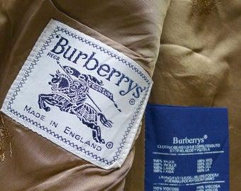 Vintage Burberrys camel brown wool jacket