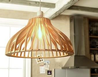 """Suspension luminaire design bois """"Curved"""""""