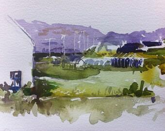 Acharacle, Ardnamurchan, original watercolour, landscape, scotland