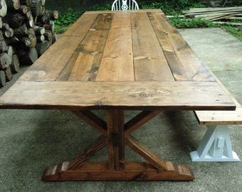 ON SALE! (Until July 30th) Reclaimed Wood Trestle Dining Table