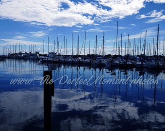 Sailboat digital download, Digital download, Instant download, Sailboats, Water, Florida, Clouds, Sky