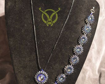 Cameleon Necklace and Bracelet set