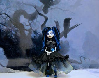 Gothic girl in blue