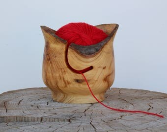 yarn bowl with natural edge