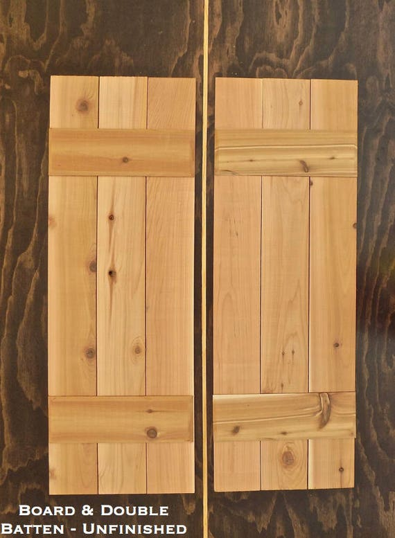 Board And Batten Shutters Unfinished Cedar Shutters Wood