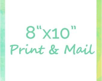 "Print & Mail Any Design at 8""x10"""