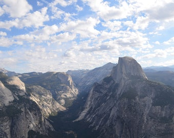 Glacier Point View - Yosemite National Park - California Photography Print - 8x10 or 11x14