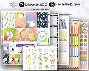 Butterflies Collection // Full Weekly Kit // Happy Planner Classic