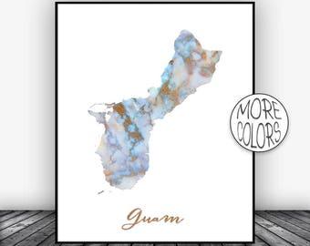 Guam Print, Guam Art Print, Home Decor, Guam Map Art, Wall Prints, Wall Art, Home Wall Decor, Living Room Decor, ArtPrintsZoe