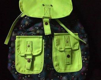Green bag backpack