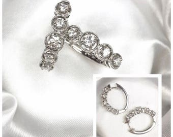 "The ""Grace"": 14K White Gold Hoop Earrings"