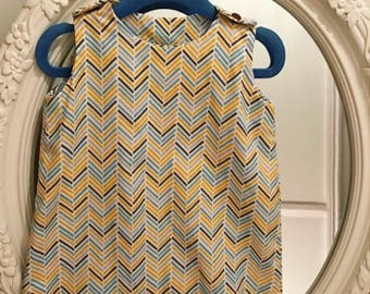 Handmade baby boys zigzag romper suit with popper fasteners,  3-6 months