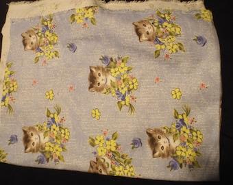 Flannel Kitten fabric