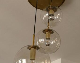 Ceiling lamp - hanging - 3 globes - Limburg waterfall