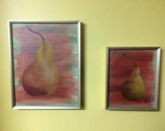 "Set of Original Oil Paintings ""Siblings"""