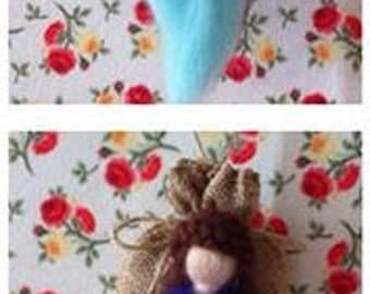 wool felt fairy with lavender bags