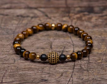 Gold Pave - Tigers Eye