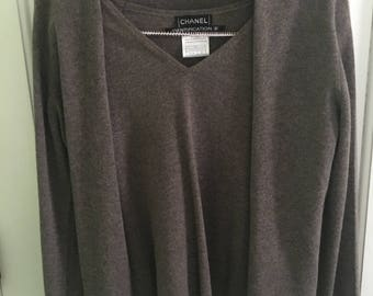 Chanel Sweater set light brown size 42