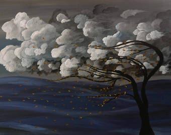 Blowing season - acrylic.