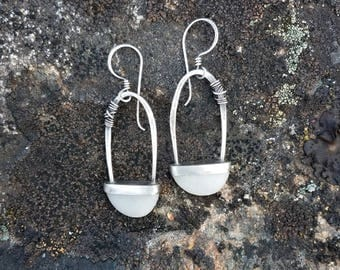 Stone Arch Earrings
