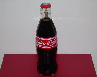 Fallout Fan Made Nuka Cola 330ml Bottle + 3 Brand New Caps+ Free Sticker