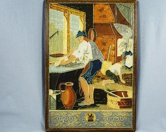 Vintage Delft Ceramic Plaque