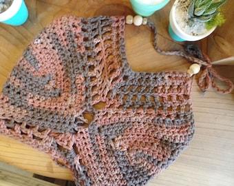 Crochet Festival Crop Top Halter