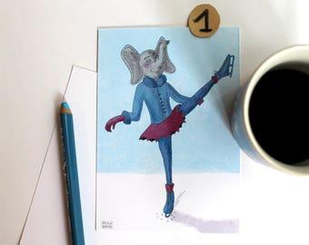 Postcard illustrated