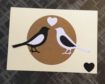 Love birds card for valentines or anniversary