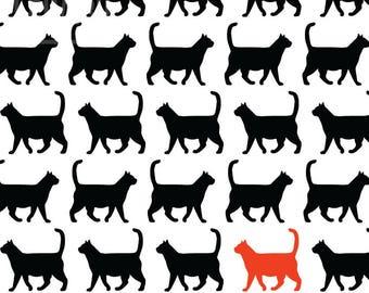 Modern Cat Print | illustration | design | poster | minimal | cats | art